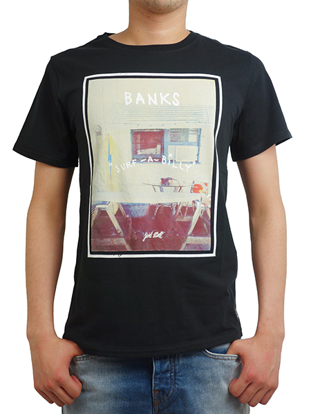 BANKS WORKSHOP TEE SHIRT DIRTY BLACK