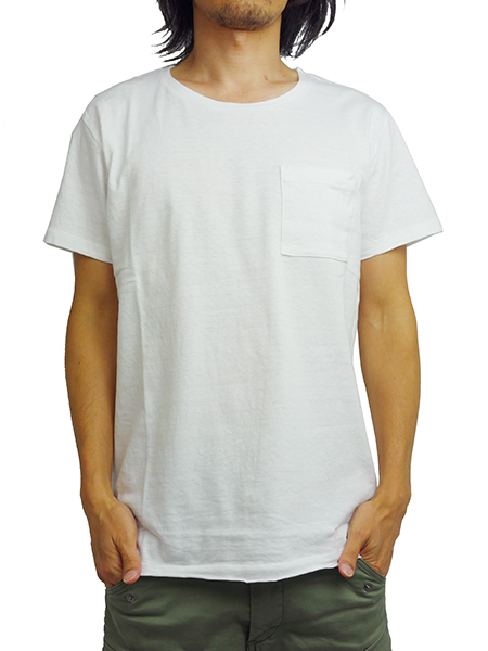 LIFE IS.... BIG POCKET TEE WHITE