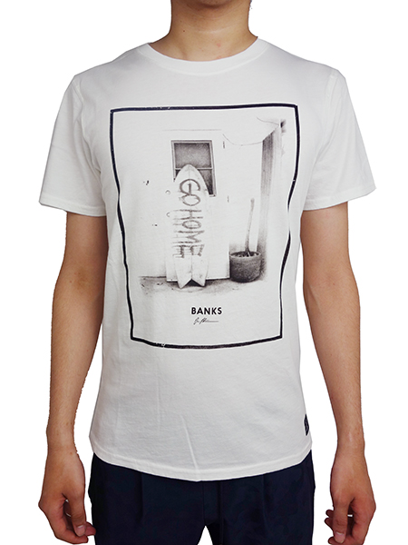 BANKS GO HOME TEE SHIRT DIRTY WHITE