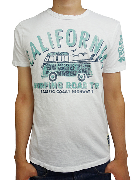 SUNSET SURF by JOHNSON MOTORS Inc. CALIFORNIA ROAD TRIP OPTIC WHITE