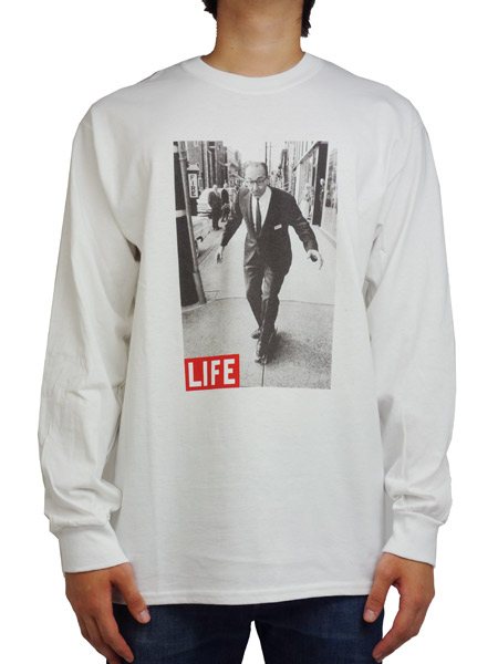 LIFE MAGAZINE×SURT × ONEITA  PHOTO PRINT L/S TEE WHITE