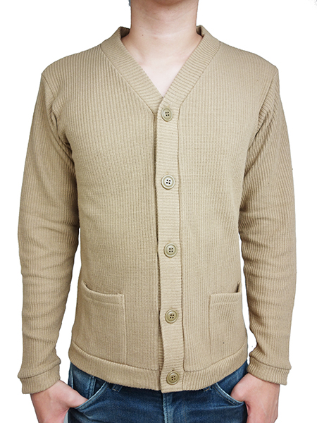 LIFE IS.... AUSTERE KNIT CARDIGAN BEIGE