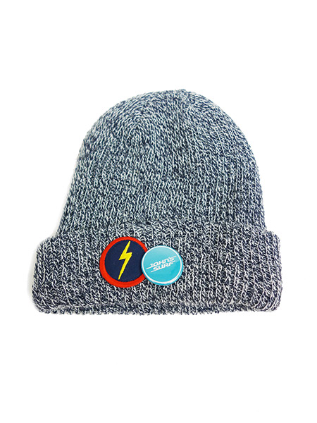 JOHN'S SURF × Lightning bolt KNIT CAP GRAY