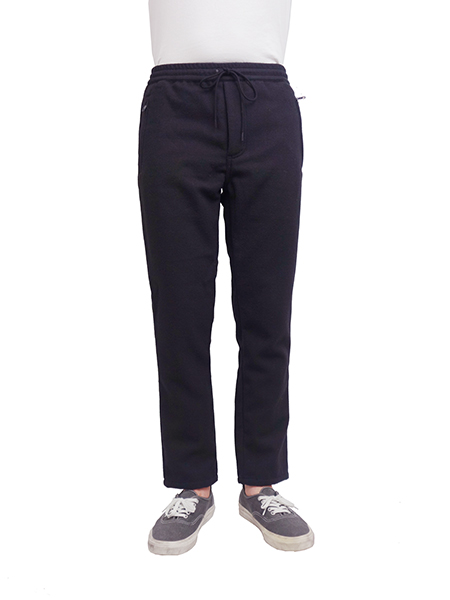 Williamsburg & Co WOOL MOSSA LONG PANTS BLACK