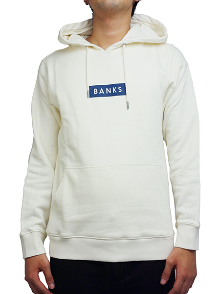 BANKS FORUM PULL OVER FLEECE DIRTY CREAM