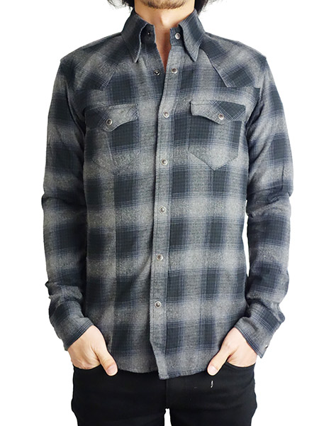 Battalion Lumberjack Ombre Flannel Shirt Black