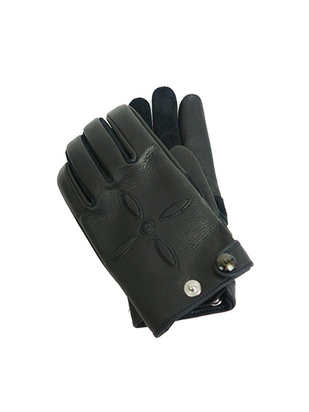 UNCHAIN GLOVE WEST-BLACK×BLACK