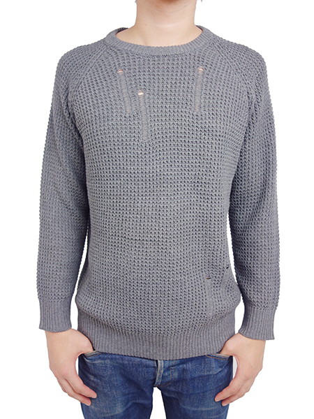 "AFENDS ""ZAR �"" Crew neck knit GREY MARLE"
