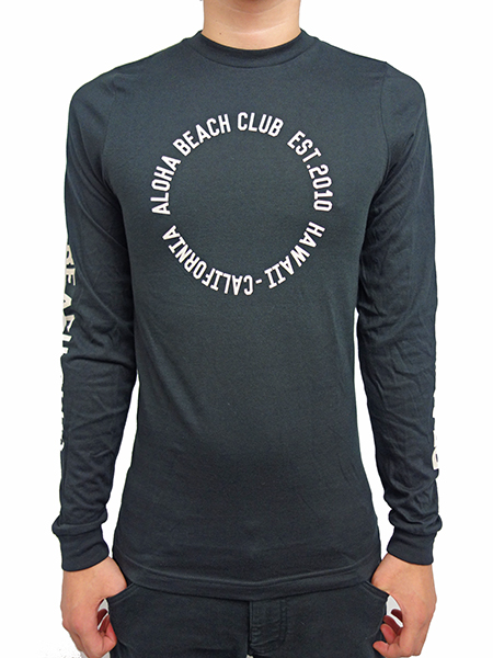 ALOHA BEACH CLUB L/S TEE SINCE THEN BLACK