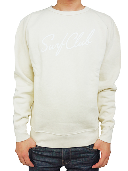 OAKLAND SURF NEW WAVE CREW SWEAT NATURAL