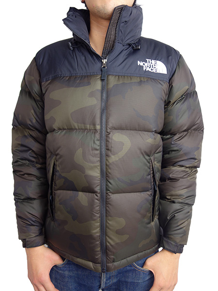 THE NORTH FACE Novelty Nuptse Jacket WOODLAND CAMO