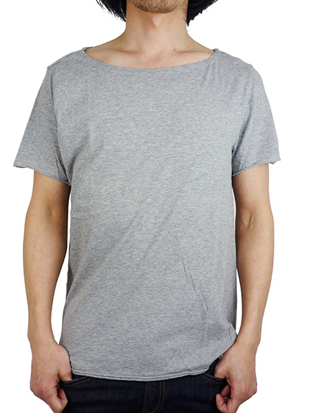 LIFE IS.... FLAT NECK TEE GREY
