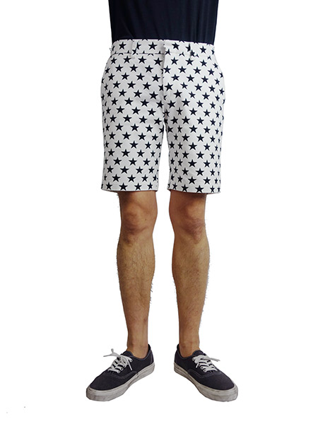 Marbles Star Printed Shorts WHITE