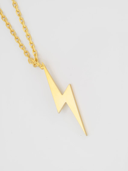 EDF CUTTING BOLT NECKLACE (L) GOLD