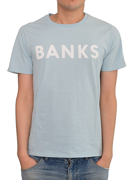BANKS CLASSIC TEE SHIRT CLOUD BLUE