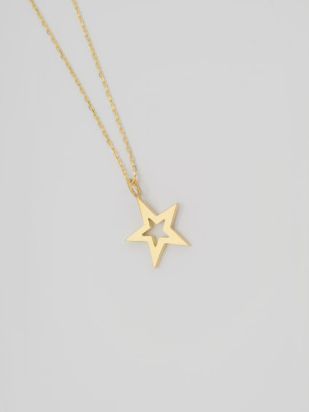 EDF Frame Star Necklace (S) K18 GOLD