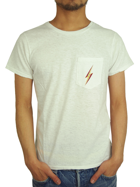 Lightning Bolt BASIC POCKET TEE OFF WHITE