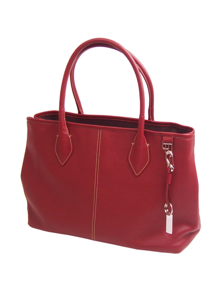 DESTINY'S DIMENSION Leather Tote Bag WESTWOOD 2 BREATHLESS RED