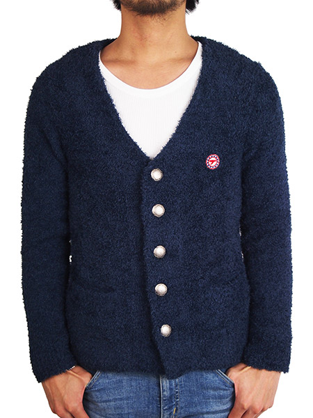 Toecutter BABY HAIR BUTTON CARDIGAN NAVY