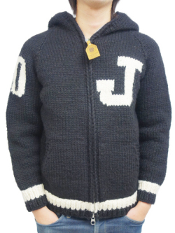 JOHN'S × CANADIAN SWEATER 30th KNIT ZIP UP HOODIE
