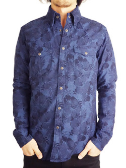 Battalion Jaquard Linen Chambray Shirt Navy