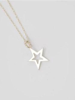 EDF Frame Star Necklace Silver