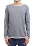 LIFE IS.... RELAX NECK SWEAT GREY