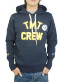 TMT��RUSSELL HEAVY WEIGHT FRENCH TERRY PARKA (TMT CREW) NAVY