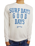 MARBLES SURF DAYS GOOD DAYS L/S T-SHIRT WHITE