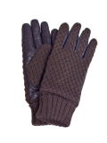 Battalion KNIT & ELECTRIC LEATHER GLOVE BROWN