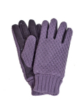 Battalion KNIT & ELECTRIC LEATHER GLOVE GRAY