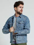 MARBLES Denim Raglan Trucker Boa Jacket