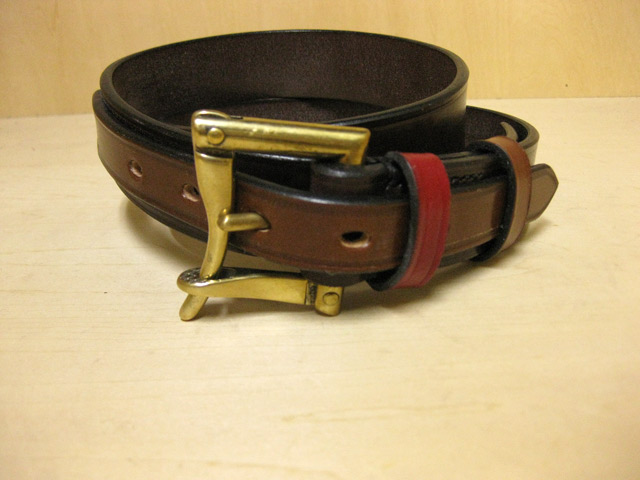 【送料無料】DAINES & HATHAWAY  1.25inch Quick Release Belt Dark Brown(Blenheim Multi)