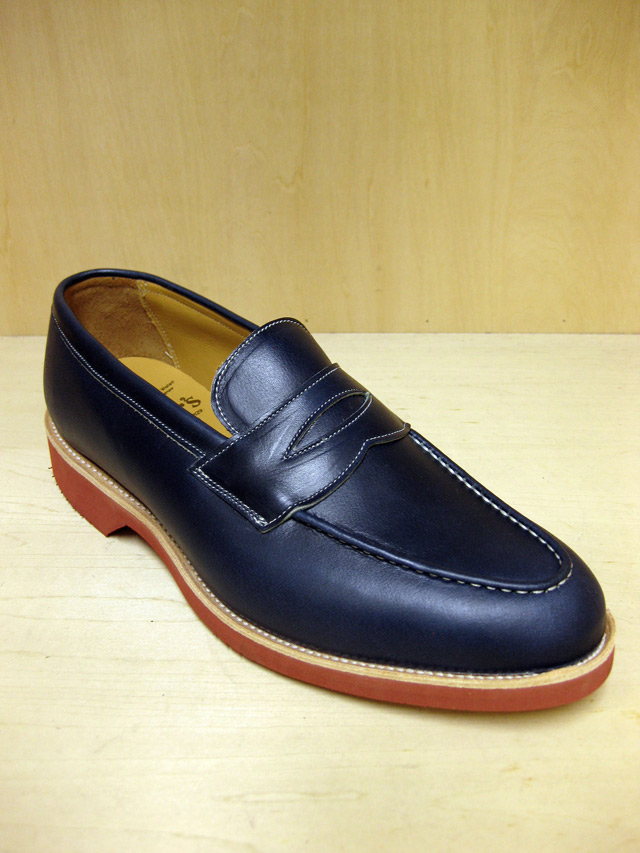 "Tricker's ローファー/Wollaton ""Denim""(Blood & Thunder 別注)"