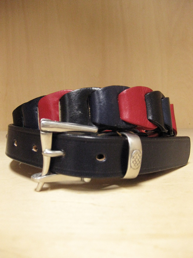 【送料無料】Martin Faizey(DAINES & HATHAWAY)  1.25inch Quick Release Cartridge Belt Red/Navy/Black