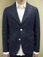 """【送料無料】 ROYAL HEM Cotton/Linen Basket Weave Peaked Lapel Jacket """"KENT"""""""
