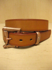【送料無料】Martin Faizey(DAINES & HATHAWAY)  1.25inch Quick Release Belt Oak Bark Leather/London Colour for JEANS