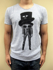 """mix sense  コットン/レーヨン """"Mad Hatter """" 半袖Tシャツ"""