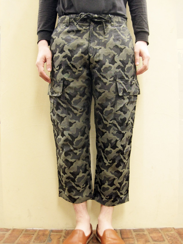 【送料無料】OVER THE STRiPES JACQUARD CAMO QUATER PANT