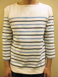 Le minor Multi Panel Border 3/4 Sleeve Tee/ルミノア マルチパネルボーダー7分袖Tシャツ
