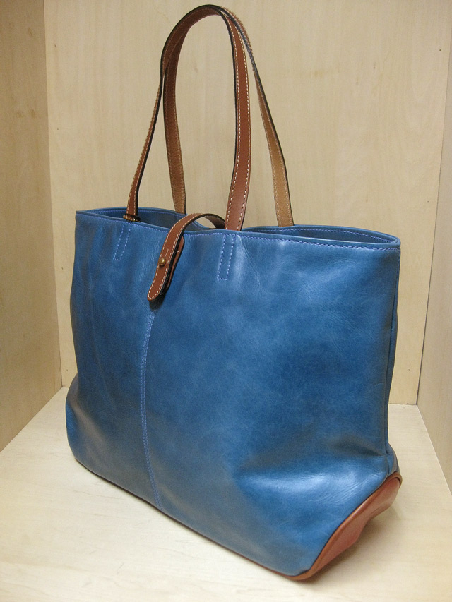 "TUSTING Shoe Leather 2Tone ""Avon"" Tote /ターコイズ&レッド(Blood & Thunder別注)"