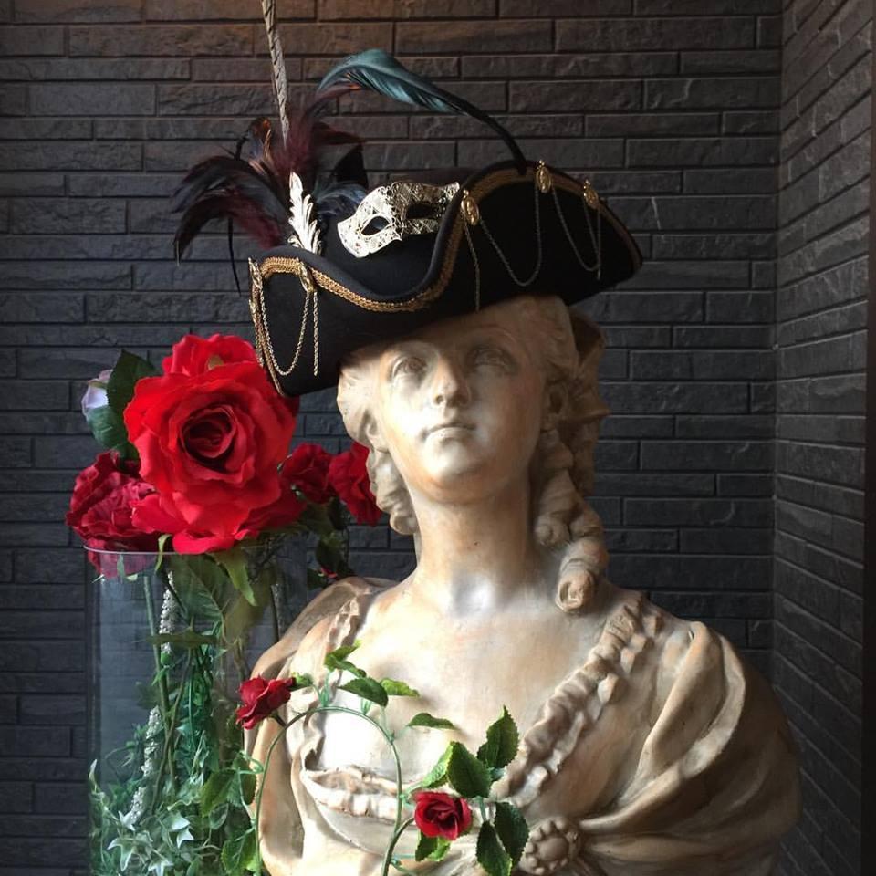 Bloody Roseオリジナル★トリコーン帽子 スチームパンク仮面舞踏会  海賊帽子