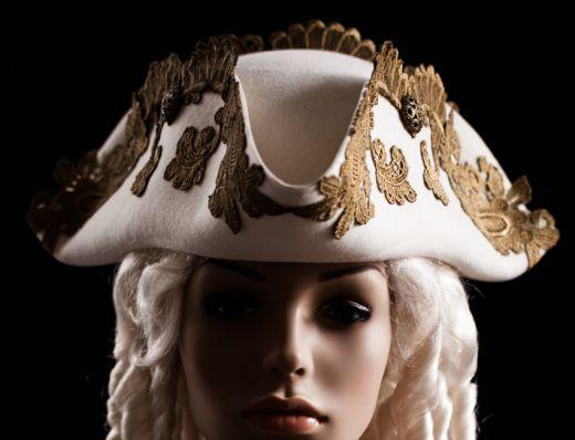 三角帽子 海賊・トリコーン14 whitegoldTricorne