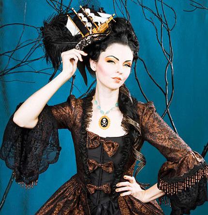 ゴシック ヘッドドレス 船の帽子 18世紀ふう