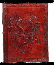 ドラゴンレザーノート☆Double Dragon Leather Embossed Journal 12.5 x 18cm