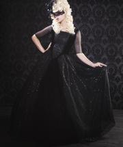 �����å��ɥ쥹���ե������ץ���ɥ쥹��Black Gothic Sparkle Marie