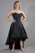 コルセット・ゴシック&ビクトリアン Monroe hi-low burlesque corset dress 黒