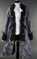 女性用 海賊ジャケット☆中世貴族漂うゴージャスなゴシックベルサイユジャケット・Blue Royal Female Pirate Coat