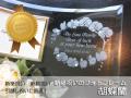 新築祝い・引っ越し祝いに最適なメッセージ入りガラスの名入れフォトフレーム【胡蝶蘭】