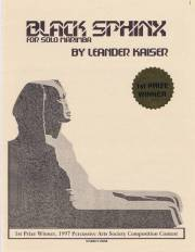 Kaiser , Leander - Black Sphinx  for Solo Marimba (特価品)